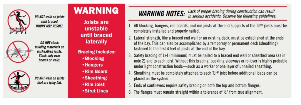 joist-warning